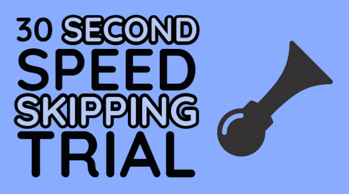 virtual skipping league 30 seconds speed trial timer